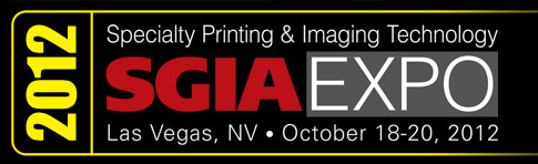 Golden Image Award at the 2012 SGIA Expo in Las Vegas.